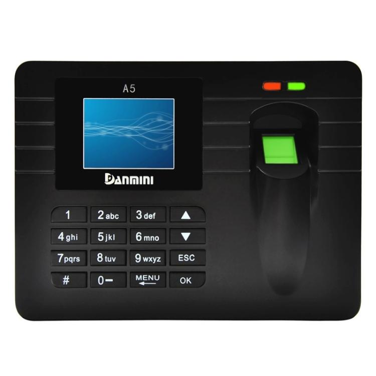 Система доступа по отпечаткам пальцев DANMINI A5 с ЖК-дисплеем 2,4 дюйма (прибор учета рабочего времени)