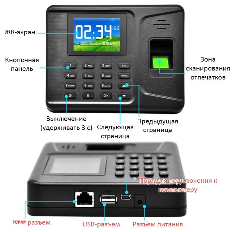 terminal ucheta rabochego vremeni realand a f261 sistema dostupa po otpechatku palca 07 - Терминал учета рабочего времени Realand A-F261 (система доступа по отпечатку пальца) - TCP/IP, USB, пароль, ID-карты