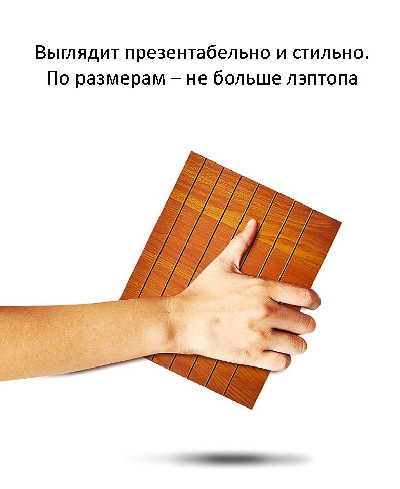 uvelichitel jekrana telefona s 12 djujmovoj hd linzoj derevjannaja podstavka 06 - Увеличитель экрана телефона с 12-дюймовой HD линзой, деревянная подставка