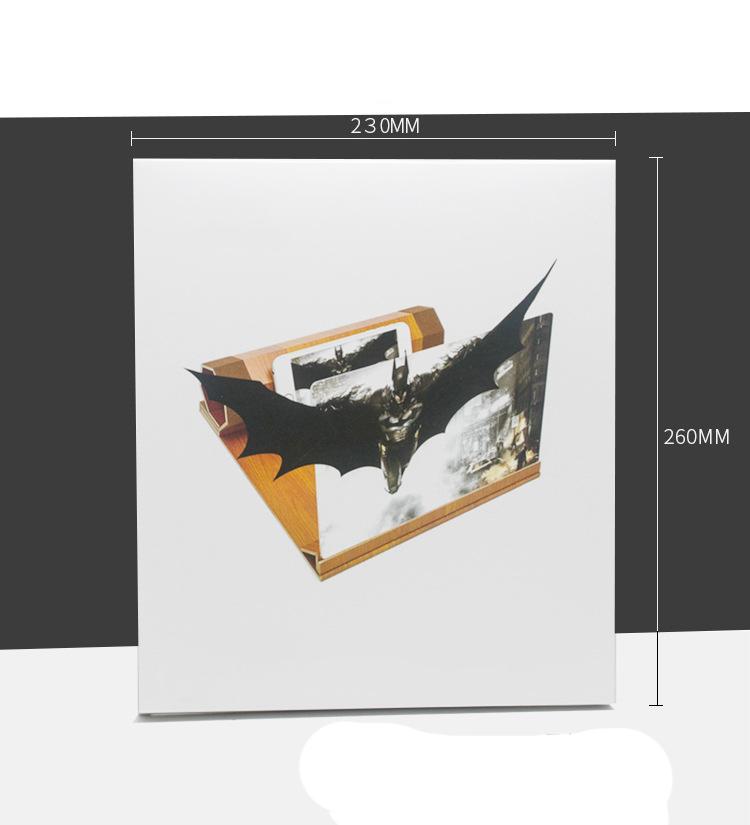 uvelichitel jekrana telefona s 12 djujmovoj hd linzoj derevjannaja podstavka 12 - Увеличитель экрана телефона с 12-дюймовой HD линзой, деревянная подставка