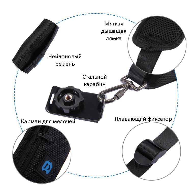 bystrorazemnyj plechevoj remen dlja kamery puluz 05 - Быстроразъемный плечевой ремень для камеры PULUZ