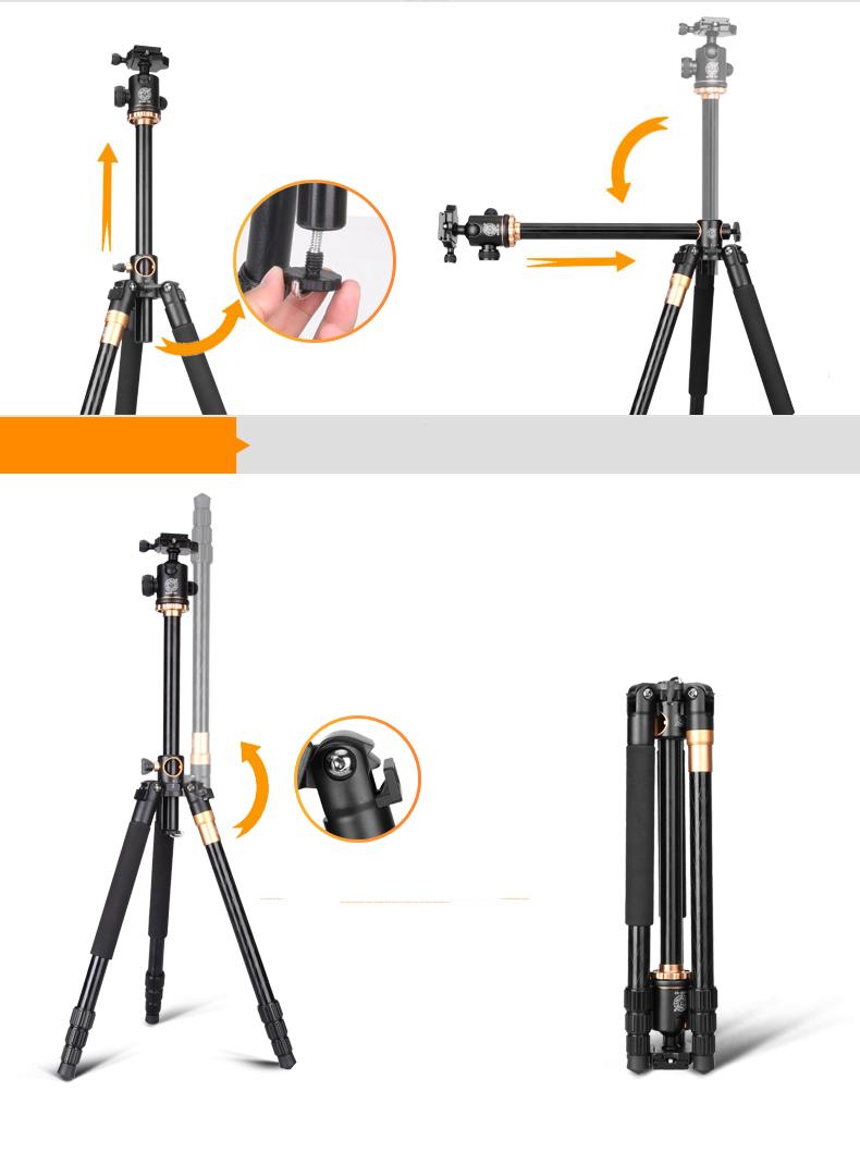 mnogofunkcionalnyj shtativ dlja kamery q999h 08 - Многофункциональный штатив для камеры Q999H: режим монопода, макросъемка, поворот камеры на 360°