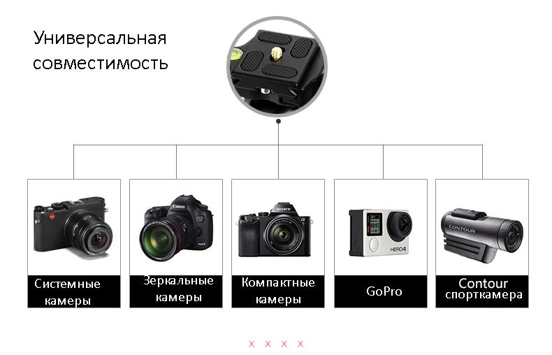 monopod shtativ q 666 trenoga dlja kamery 03 - Монопод-штатив Q-666 (тренога для камеры) – режимы макросъемки, панорамирование