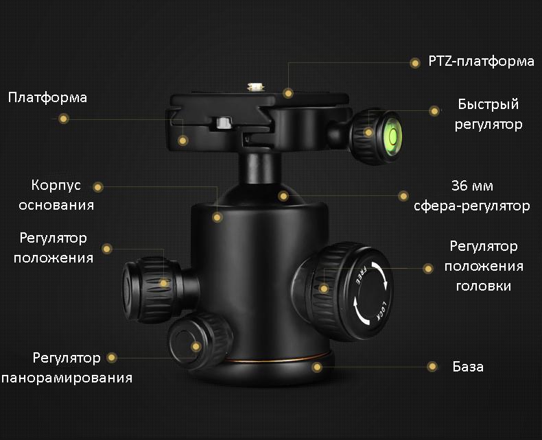 monopod shtativ q 666 trenoga dlja kamery 17 - Монопод-штатив Q-666 (тренога для камеры) – режимы макросъемки, панорамирование