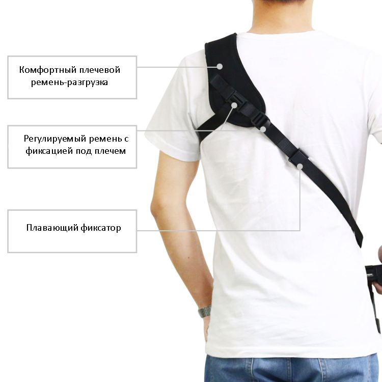 plechevoj remen dlja fotokamery puluz 06 - Плечевой ремень для фотокамеры PULUZ