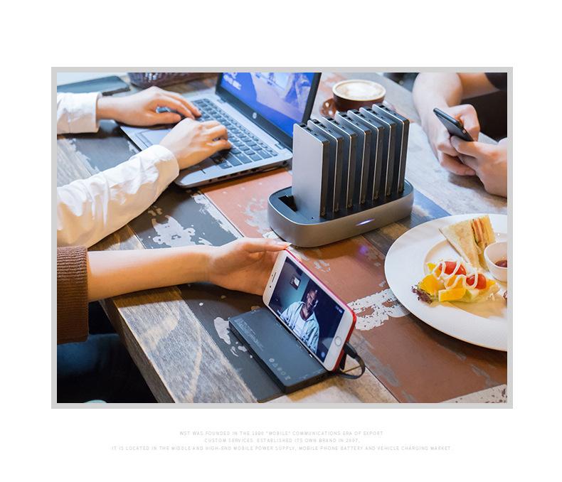 zarjadnaja stancija 8 v 1 wst s vneshnimi akkumuljatorami 11 - Зарядная станция 8 в 1 WST с внешними аккумуляторами – 8 х 8000 мАч, Micro USB + Lightning + Tipe C, 4 х USB