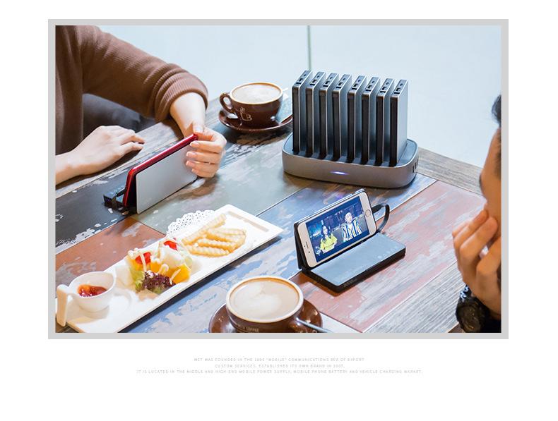 zarjadnaja stancija 8 v 1 wst s vneshnimi akkumuljatorami 13 - Зарядная станция 8 в 1 WST с внешними аккумуляторами – 8 х 8000 мАч, Micro USB + Lightning + Tipe C, 4 х USB