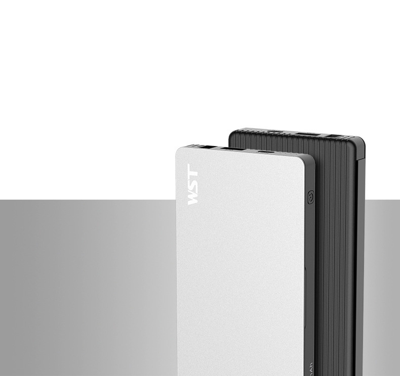 zarjadnaja stancija 8 v 1 wst s vneshnimi akkumuljatorami 17 - Зарядная станция 8 в 1 WST с внешними аккумуляторами – 8 х 8000 мАч, Micro USB + Lightning + Tipe C, 4 х USB