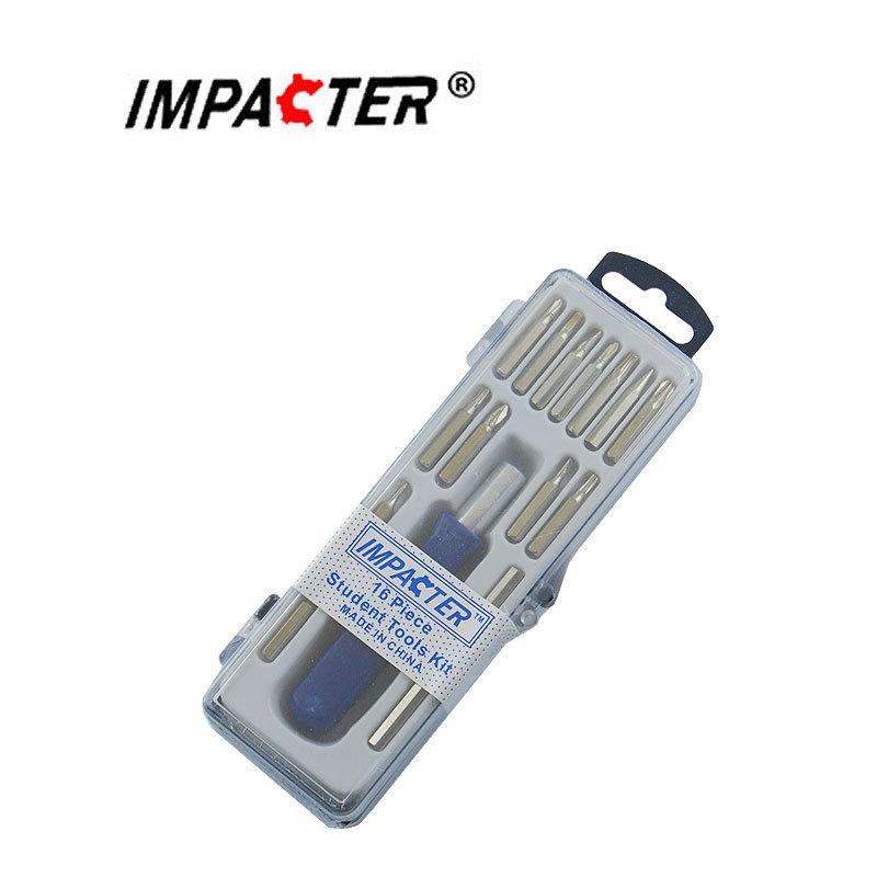 Набор бит с отверткой для мелкой электроники и мобильных устройств 16 в 1 229301
