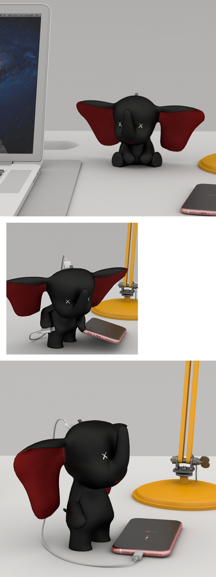 igrushechnyj slon s zarjadkoj dlja smartfona slon power bank pover bank 8800 mach 03 - Слон с зарядкой для смартфона/ слон-Power Bank (повер-банк) 8800 мАч