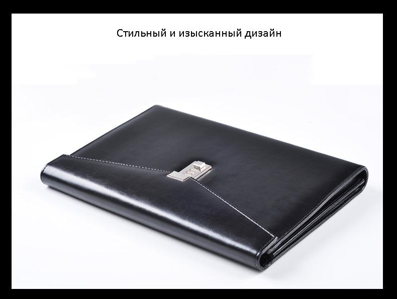 kozhanaja papka s kodovym zamkom cagie classic 11 1 - Кожаная папка с кодовым замком Cagie Classic