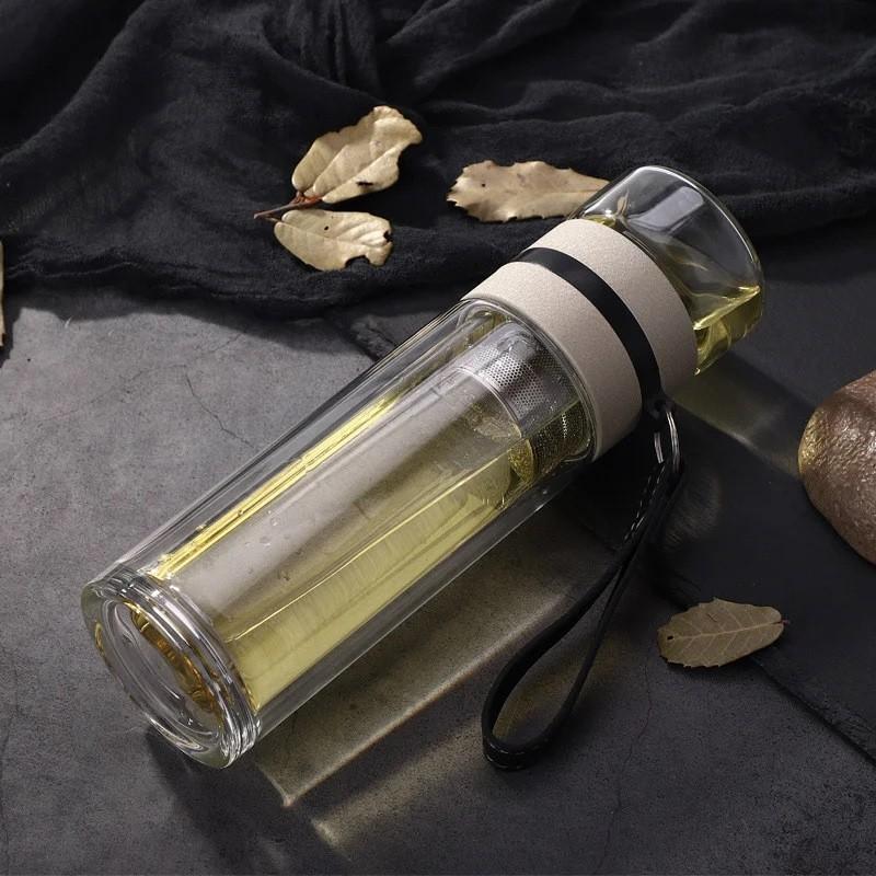 Чайный инфузер 04 - Чайный инфузер, заварник для чая, термокружка из боросиликатного стекла