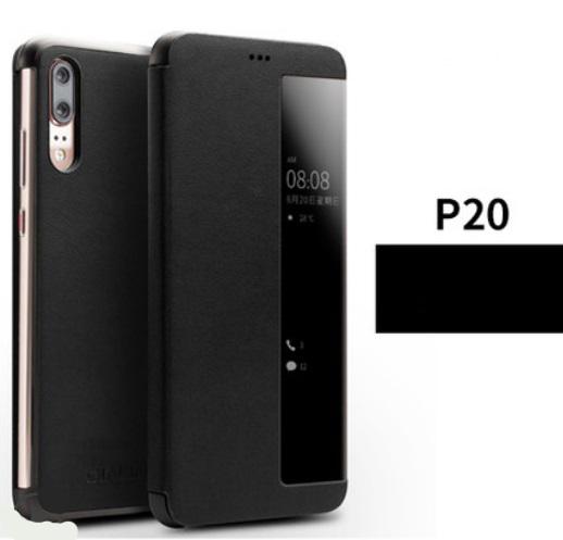 kozhanyj chehol dlja huawei p20 huawei p20 pro s intellektualnym jekranom 03 - Кожаный чехол для Huawei P20/ Huawei P20 Pro с интеллектуальным экраном