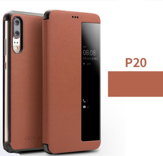 kozhanyj chehol dlja huawei p20 huawei p20 pro s intellektualnym jekranom 04 - Кожаный чехол для Huawei P20/ Huawei P20 Pro с интеллектуальным экраном
