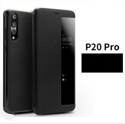 kozhanyj chehol dlja huawei p20 huawei p20 pro s intellektualnym jekranom 14 - Кожаный чехол для Huawei P20/ Huawei P20 Pro с интеллектуальным экраном