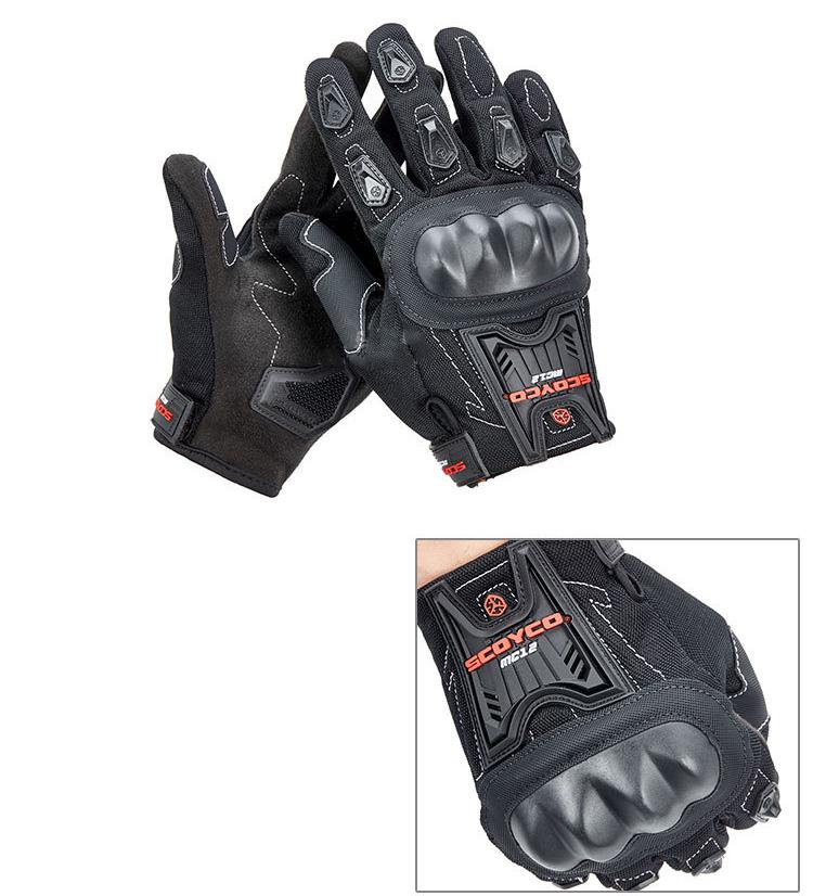 Мужские перчатки для мотоцикла SCOYCO MC12