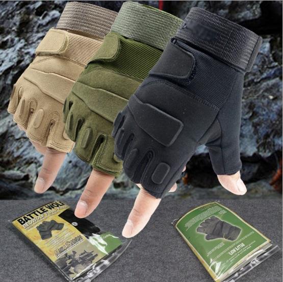 Спортивные перчатки с полупальцами, тактические перчатки для военных