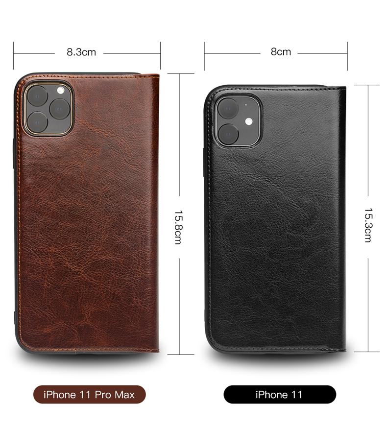 kozhanyj chehol dlja iphone11 pro pro max s portmone 10 - Кожаный чехол для iPhone 11 Pro Pro Max с портмоне QIALINO