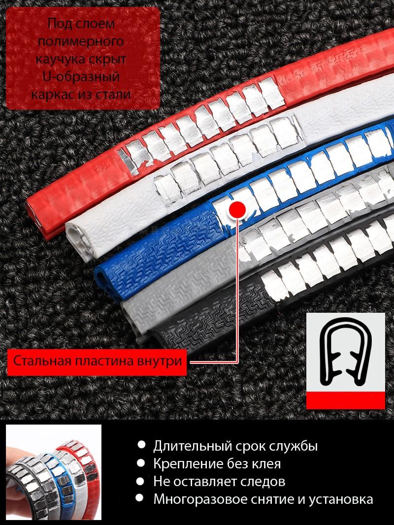 nakladki na dveri avtomobilja zashhitnyj molding dverej bagazhnika 03 - Накладки на двери автомобиля (защитный молдинг дверей, багажника): стальной каркас+каучук, без клея