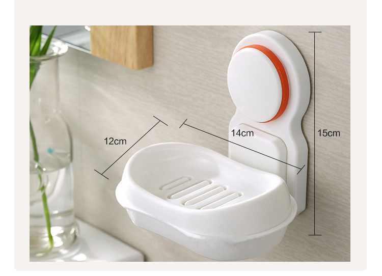nastennaja mylnica v vannuju soapphire 11 1 - Настенная мыльница в ванную Soapphire: прочные присоски, поддон, ABS-пластик