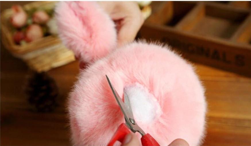 Женские меховые наушники с ушами под лисичку Mexovuxa