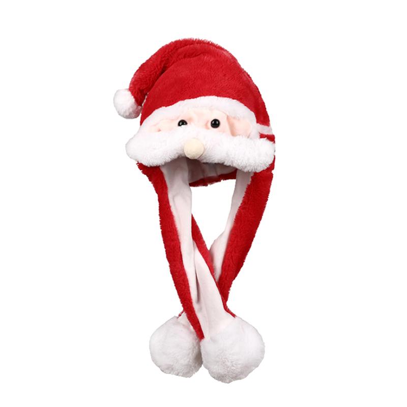 h0da2b813b7b94e908bd64a577918a6b1v - Новогодняя шапка Деда Мороза светящаяся с длинными завязками, шевелятся усы
