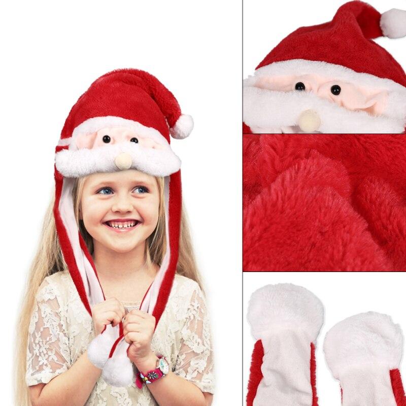 h30c02f6c445046b68564fbbf9fb2e4169 - Новогодняя шапка Деда Мороза светящаяся с длинными завязками, шевелятся усы