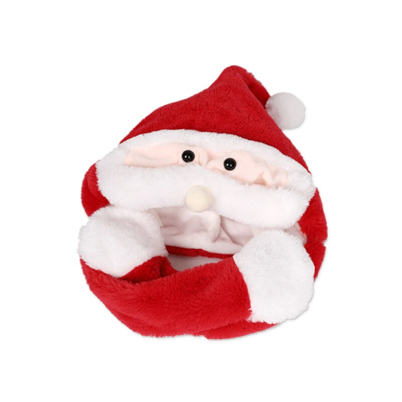 h7283393b2cce4bc1a14f38f54deba2a7o - Новогодняя шапка Деда Мороза светящаяся с длинными завязками, шевелятся усы