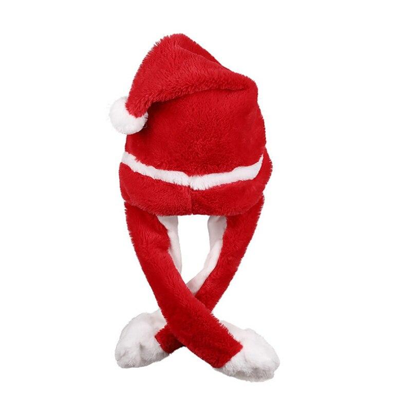 h92138690104c46089ed8145d7b4ca2c14 - Новогодняя шапка Деда Мороза светящаяся с длинными завязками, шевелятся усы