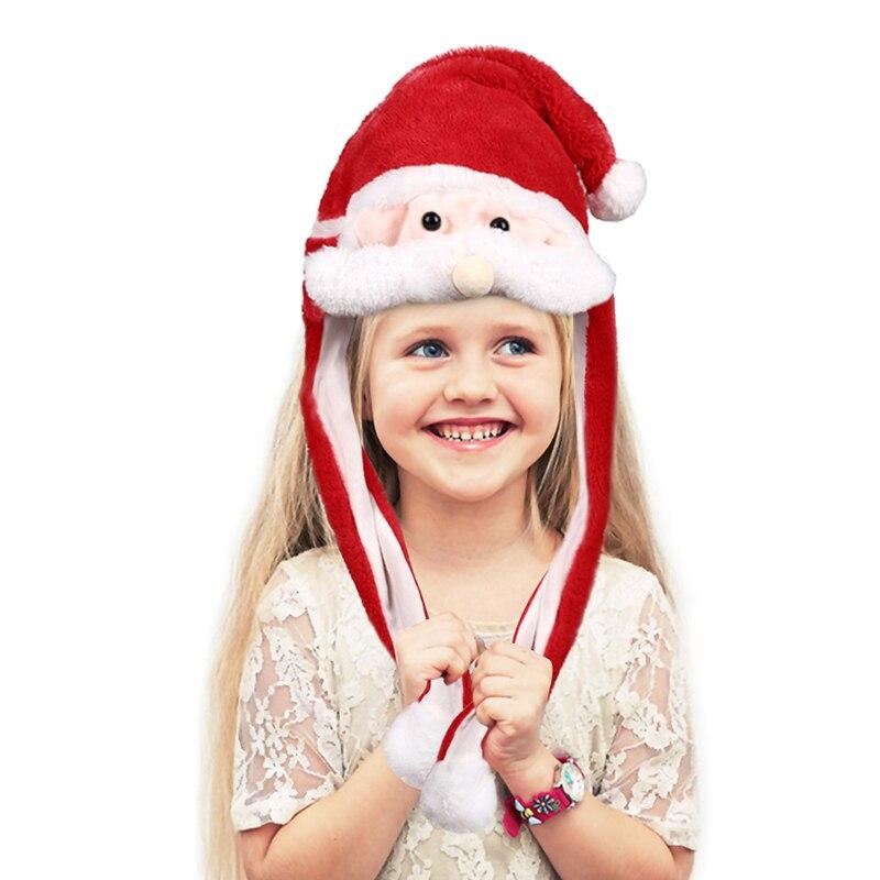 hc4b4cef4bd7e4d39ac517b376c29b4fcd - Новогодняя шапка Деда Мороза светящаяся с длинными завязками, шевелятся усы