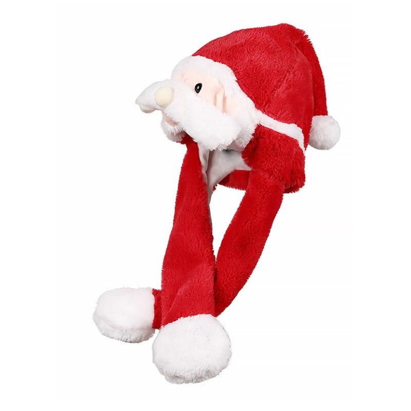 he8d999fddc5643f39e9e7fdb9130ea7b4 - Новогодняя шапка Деда Мороза светящаяся с длинными завязками, шевелятся усы