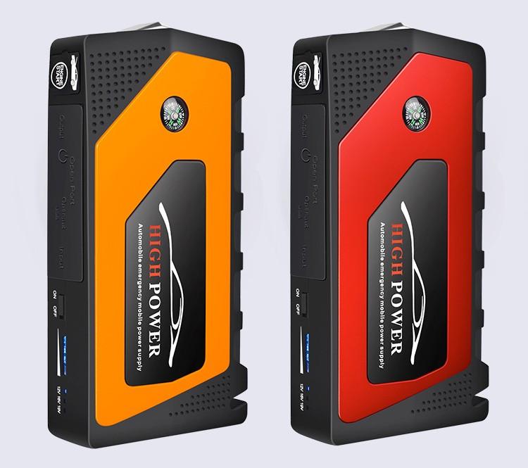 prikurivatel dlja avtomobilja jump starter jx28 600a 08 - Прикуриватель для автомобиля Jump Starter JX28 600А, 12В: 18000 мАч, 4 х USB 5V 2A, стартер-кабели, адаптеры