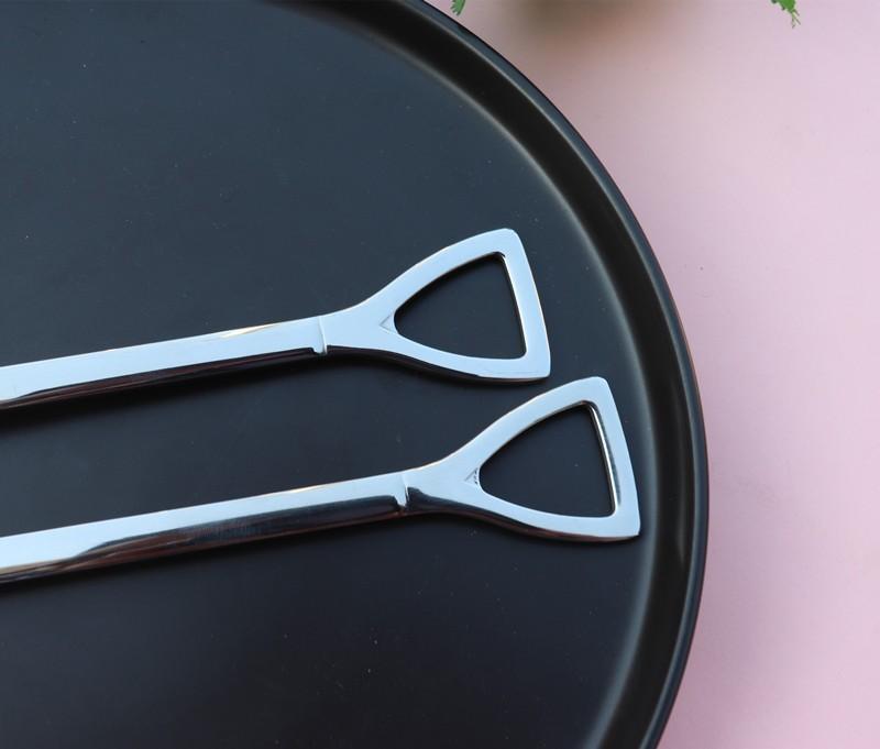 Столовый набор вилок и ложек в виде лопаты, нержавеющая сталь