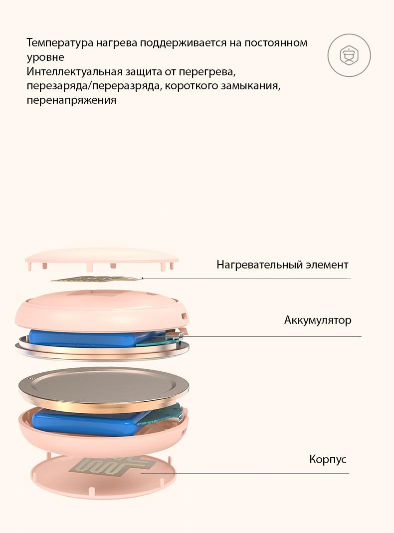 karmannaja usb grelka pudrenica iris duo s zerkalom 2 v 1 05 - Карманная USB-грелка-пудреница Iris Duo с зеркалом 2 в 1 (разъемная USB-грелка)+ Power Bank