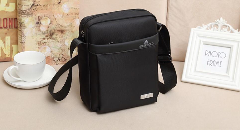 Мужская деловая сумка через плечо Peterbolo Maskilli Business: с USB-портом и без