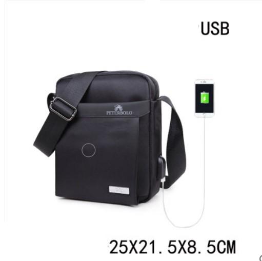 Мужская деловая сумка через плечо Peterbolo Maskilli Business: с USB-портом и без 243703