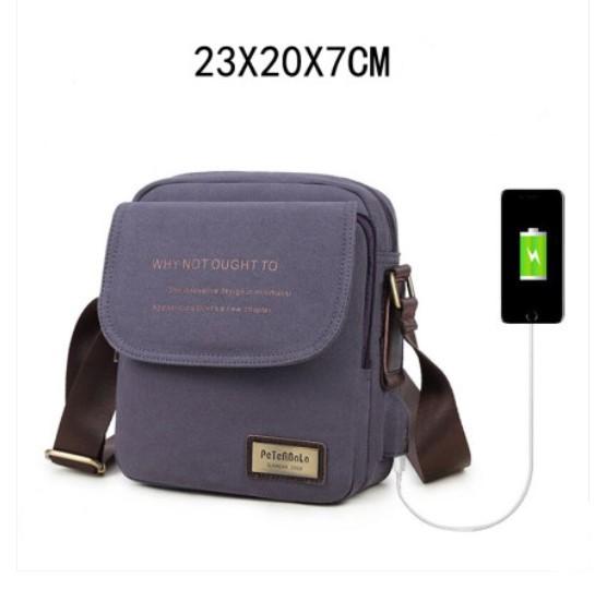 muzhskaja sumka cherez plecho peterbolo maskilli 27 - Мужская плечевая USB-сумка Peterbolo Maskilli со встроенным USB-портом