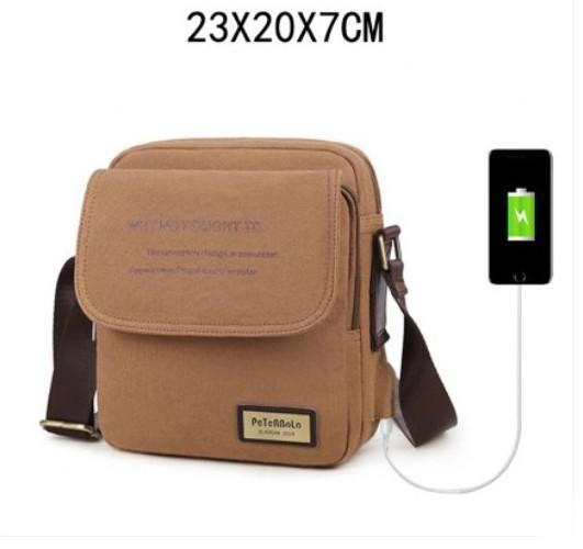 muzhskaja sumka cherez plecho peterbolo maskilli 31 - Мужская плечевая USB-сумка Peterbolo Maskilli со встроенным USB-портом