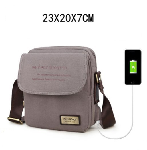 muzhskaja sumka cherez plecho peterbolo maskilli 33 - Мужская плечевая USB-сумка Peterbolo Maskilli со встроенным USB-портом