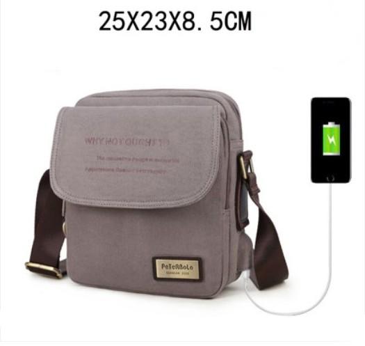muzhskaja sumka cherez plecho peterbolo maskilli 34 - Мужская плечевая USB-сумка Peterbolo Maskilli со встроенным USB-портом