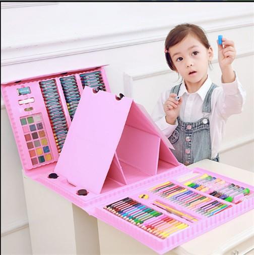 Набор для рисования в чемоданчике с мольбертом Юный художник 176 элементов 241437
