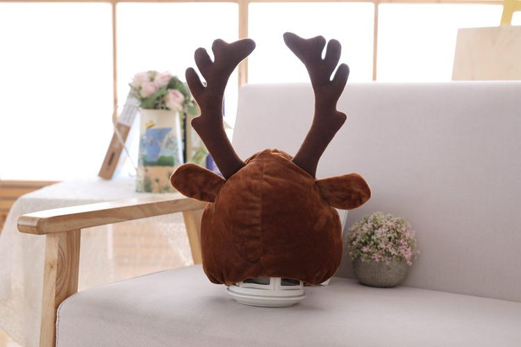 novogodnjaja shapka s rogami olenja shapka s olenem 05 - Новогодняя шапка с рогами оленя, шапка с оленем