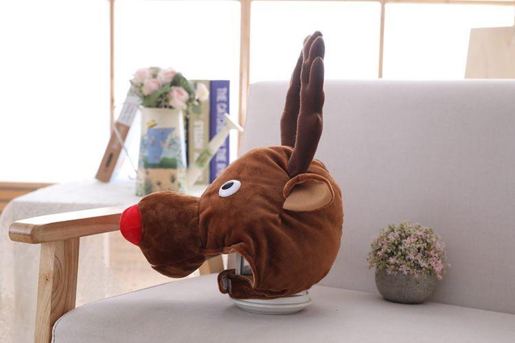 novogodnjaja shapka s rogami olenja shapka s olenem 09 - Новогодняя шапка с рогами оленя, шапка с оленем