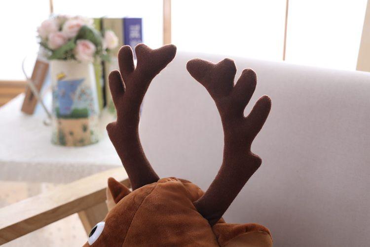 novogodnjaja shapka s rogami olenja shapka s olenem 10 - Новогодняя шапка с рогами оленя, шапка с оленем