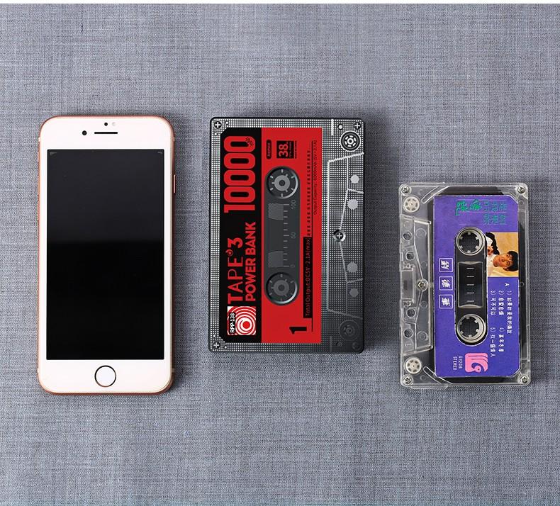 Power Bank в виде кассеты Remax 10000 мАч, повер-банк Кассета в ретро стиле