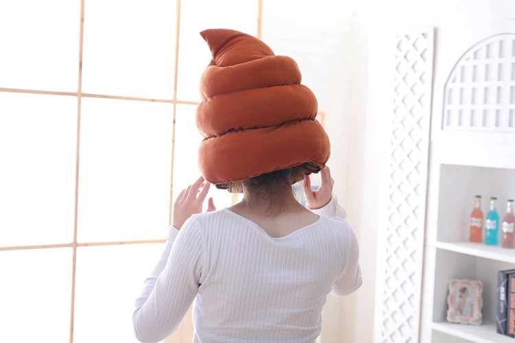 smeshnaja shapka kakashka shapka v forme govna 03 - Смешная шапка-какашка, шапка в форме говна