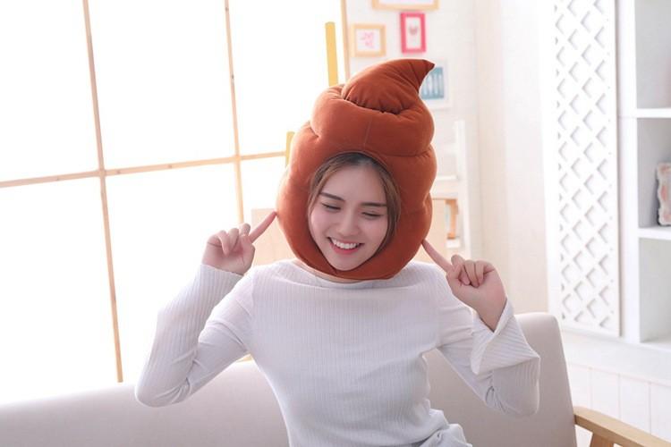 Смешная шапка-какашка, шапка в форме говна