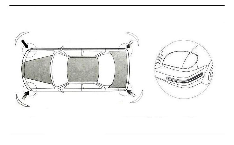 zashhita bampera karbonovaja nakladka na zadnij perednij bamper bumper guard 22 - Защита бампера, карбоновая накладка на задний/ передний бампер Bumper Guard