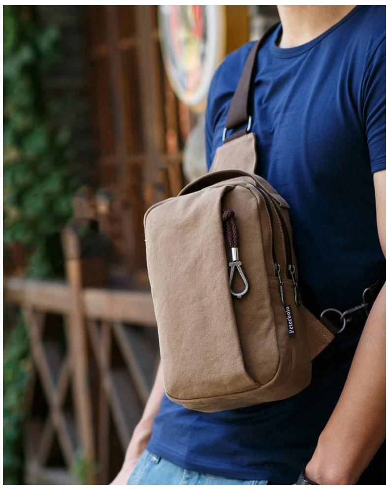 muzhskaja mini sumka rjukzak cherez plecho peterbolo mool 02 1 - Мужская мини-сумка, рюкзак через плечо PETERBOLO Mool