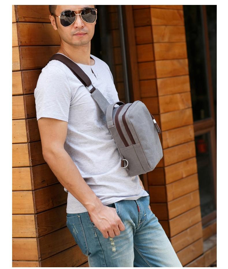 muzhskaja mini sumka rjukzak cherez plecho peterbolo mool 18 - Мужская мини-сумка, рюкзак через плечо PETERBOLO Mool